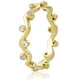 Золотое кольцо с кристаллами Swarovski Бертина
