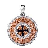 Кулон серебряный с позолотой Звезда Эрцгамма, ø 2,5 см