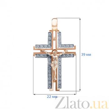 Крестик декоративный с бриллиантами Hope AQA--Кр002Dm