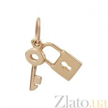 Золотой подвес Замок и ключ 2П695-0008