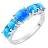 Серебряное кольцо Наира с опалами