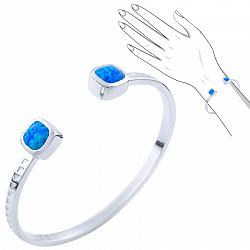 Серебряный браслет Друзилла с синим опалом 000076264