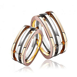 Обручальное кольцо в комбинированном цвете золота 000001607