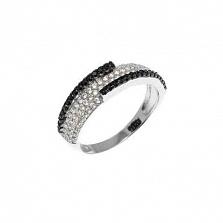 Серебряное кольцо Бостон с фианитами