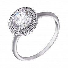 Серебряное кольцо с фианитами Атлантида