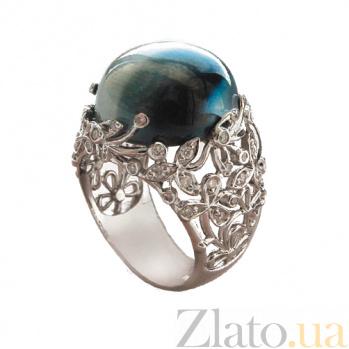 Золотое кольцо с бриллиантами и лунным камнем Porcelain ZMX--RDMs-0031w