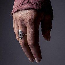 Кольцо из серебра Ok, Jim в виде черепа с чернением