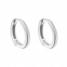 Серебряные серьги-кольца Мальва, диам. 13мм
