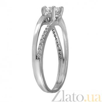 Кольцо из белого золота с фианитами Сицилия 000022933