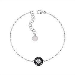 Серебряный браслет с керамикой и цирконием 000147510