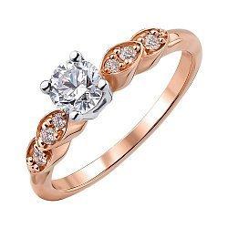 Золотое кольцо в комбинированном цвете с бриллиантами 000147924