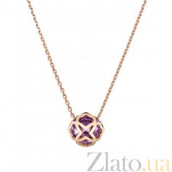 Колье из розового золота с аметистом Imperiale N-Ch(d)-IMP-R-ametyst