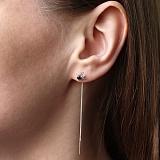 Серебряные сережки-протяжки Маленькие паучки с фианитами