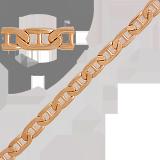 Золотая цепь Валентино, 10мм