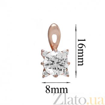 Золотые серьги с фианитами Орабэль ONX--с01520