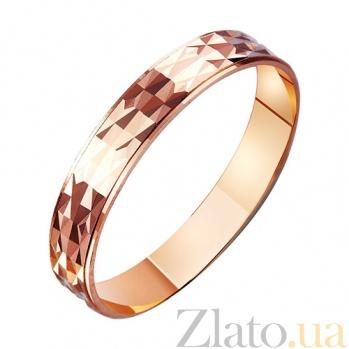 Золотое обручальное кольцо Прикосновение ангела TRF--411135