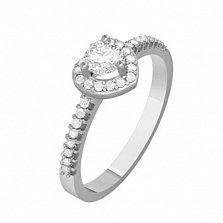 Золотое кольцо с бриллиантами Нежное сердце