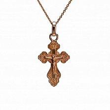 Крестик из красного золота Всеблагий защитник