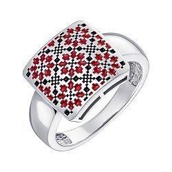 Серебряное кольцо с эмалью 000148793