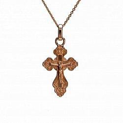 Крестик из красного золота 000050823