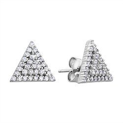 Серебряные серьги с фианитами 000132645