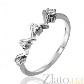 Кольцо из белого золота с бриллиантами Линия волшебства EDM--КД7426/1