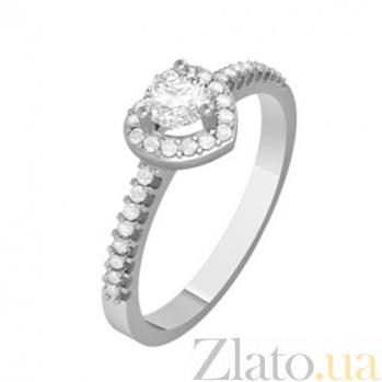 Золотое кольцо с бриллиантами Нежное сердце KBL--К1078/бел/брил