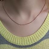 Серебряная цепочка позолоченная Отелло, 2 мм