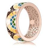 Мужское обручальное кольцо с эмалью Талисман: Счастья
