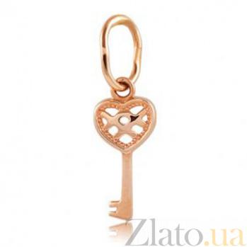 Золотая подвеска Ключик к счастью EDM--П0321