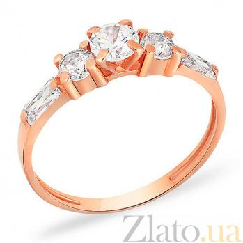 Кольцо из красного золота с фианитами Роксана SUF--140437