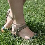 Серебряный браслет на ногу Далила