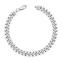 Серебряный браслет с алмазной гранью 000121466, 6мм