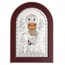 Икона серебро Николай Чудотворец
