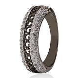 Серебряное кольцо с фианитами Гемма