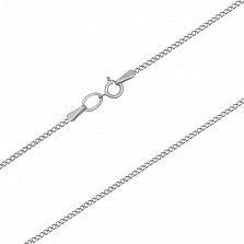 Серебряная цепочка родированная Панцирная, 1мм