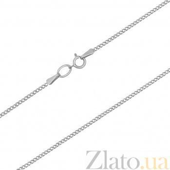Серебряная цепочка родированная Панцирная, 1мм 000017331