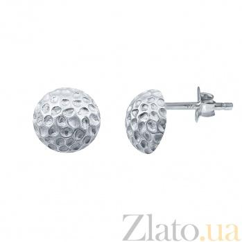Серебряные серьги-пуссеты Неизведанная планета AQA--124560001/1