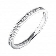 Золотое кольцо из белого золота Венчальное