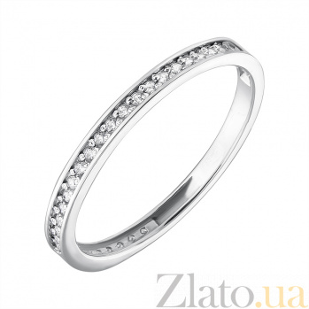 Золотое кольцо из белого золота Венчальное EDM--КД0454/1