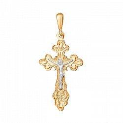 Серебряный крест с позолотой 000025201