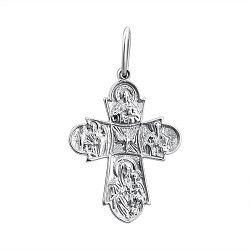 Серебряный крестик Ангельская благодать
