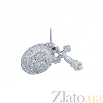 Серебряная ладанка с крестиком Духовное единство AQA--3756-б