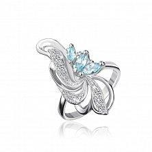 Серебряное кольцо с фианитами Фонтан