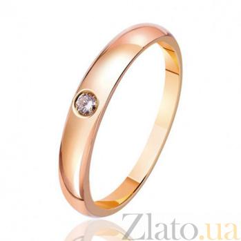 Золотое кольцо Знак любви с бриллиантом EDM--КД7427