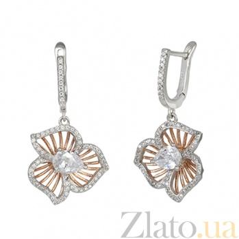 Серьги из серебра с цирконием Горицвет SLX--СК23Ф/480
