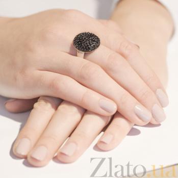 Серебряное кольцо Ночь с кристаллами Swarovski 10000028