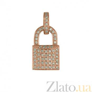 Подвеска Замок из красного золота VLT--Т311-13