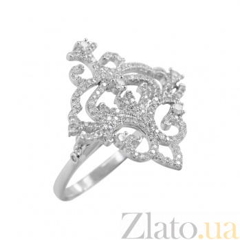 Серебряное кольцо Музыка зимы с фианитами 000081553