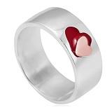 Серебряное кольцо с ювелирной эмалью Сердце